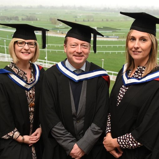 Sarah Bryars, Luke Freeman, Linsey Temple MBA Graduation Photos